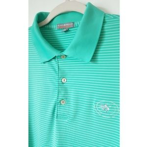 Peter Millar Golf Polo Summer Comfort Mint Size XL